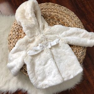 Baby Gap Faux Fur Coat
